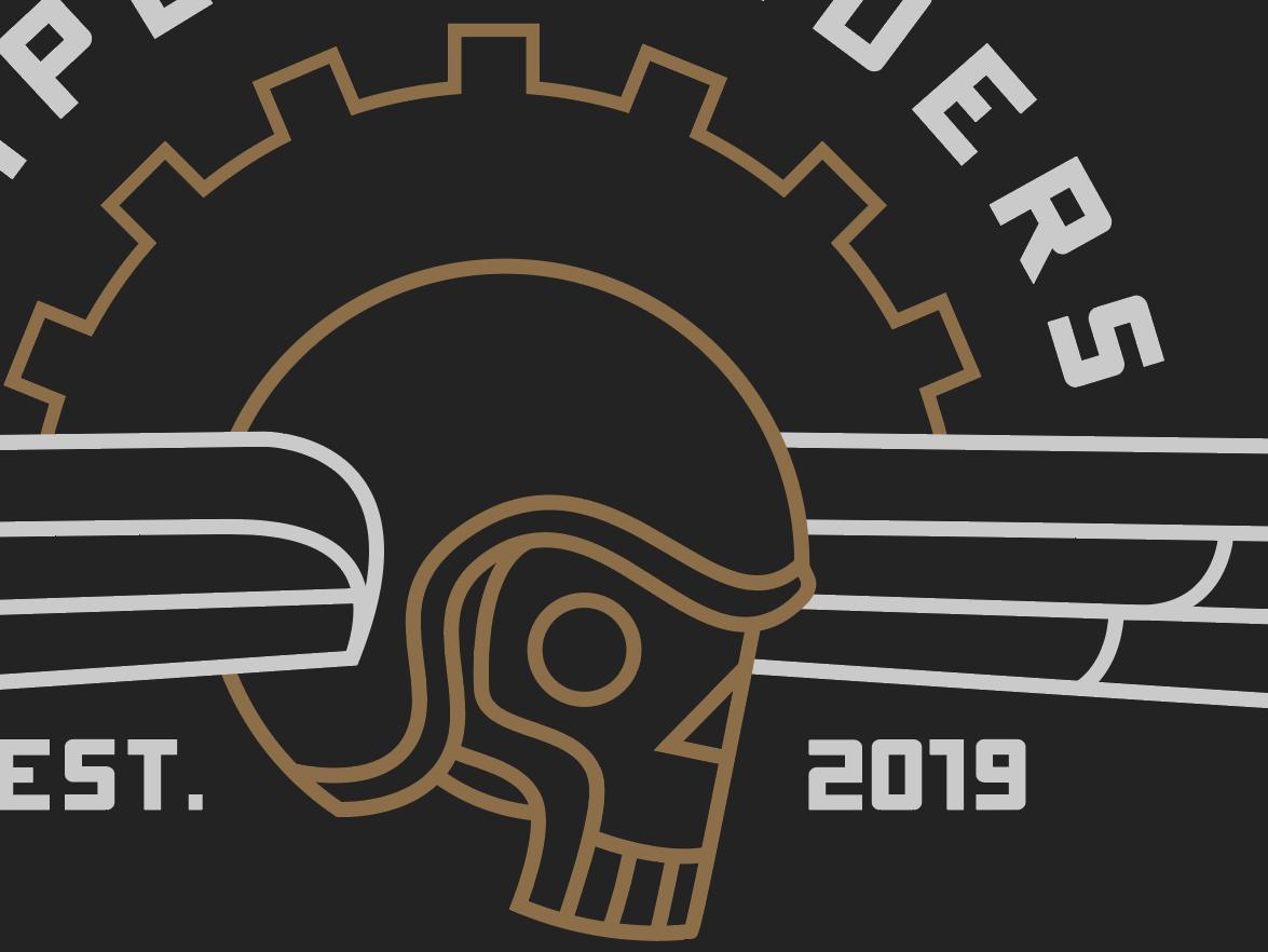 Skull WIP typography motorcycle gear logo death angel wings helmet skull