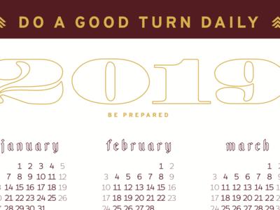 2019 Calendar - TWS Troop #924