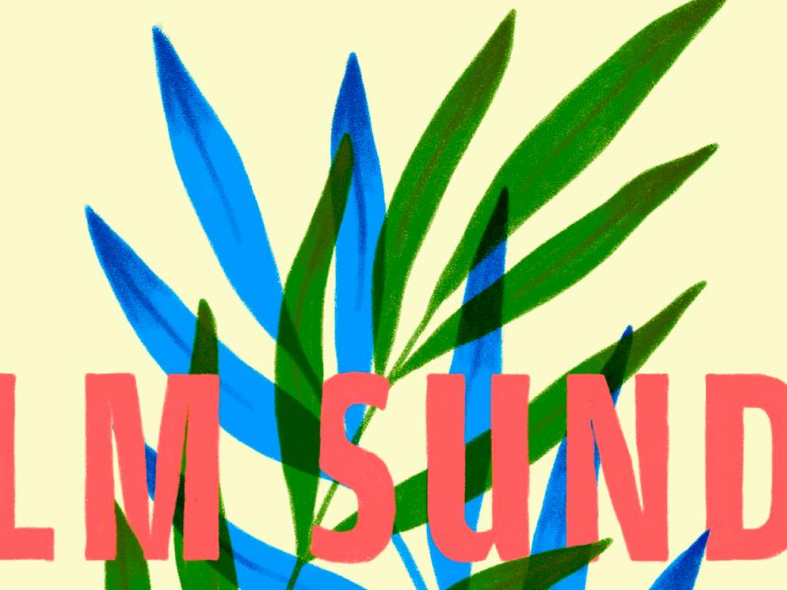 Palm Sunday hand lettering sunday plant illustration palm palm sunday