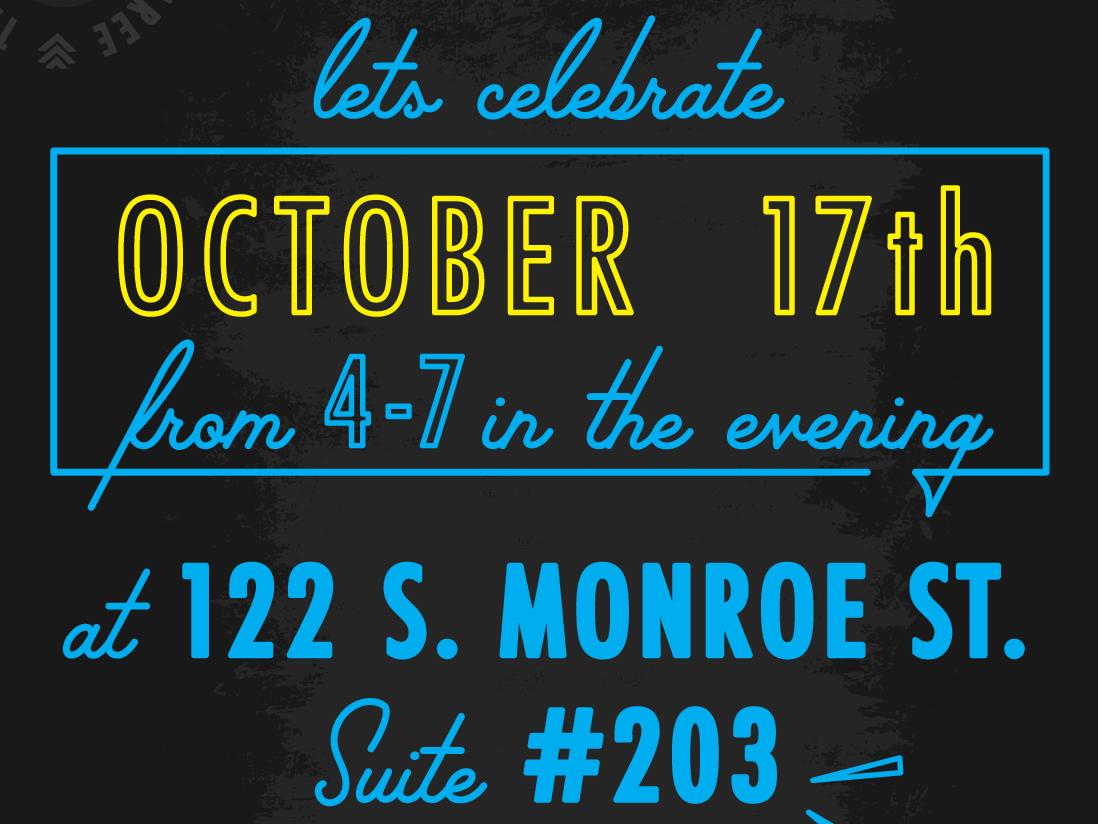 #3cheersto3 event invite typogaphy script retro typography