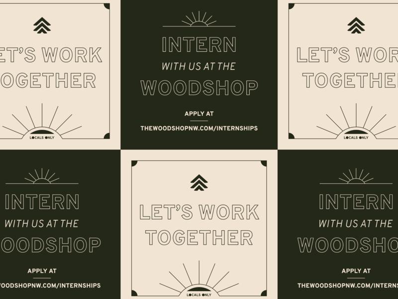 TWS Internships sun typography internship spokane the woodshop