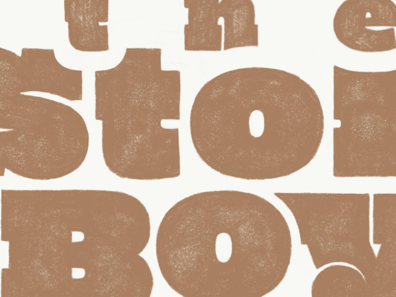 title type hand slab serif slab lettering typography