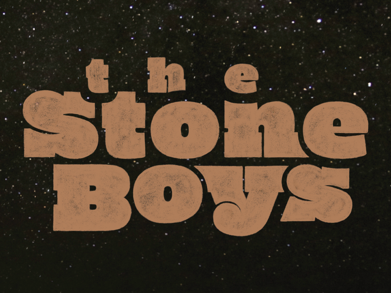 The Stone Boys Title lettering artist boys stone book cover typography slab serif lettering