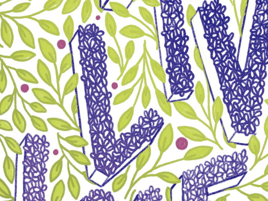 Lilac Lettering floral design florals typogrpahy spokane hand lettering leaves floral lilac