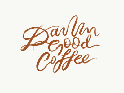 DGC coffee shop lettering typography hand lettering coffee