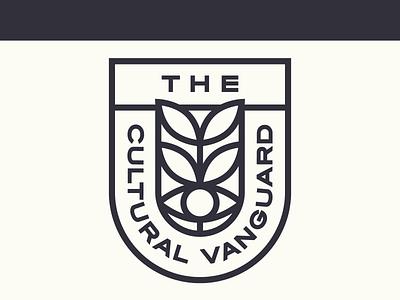 The Cultural Vanguard logo design leaves eye podcast branding logo