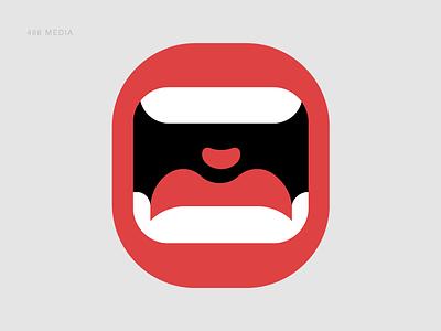 486 Media Mouth bite shout scream mouth logo 486media 486