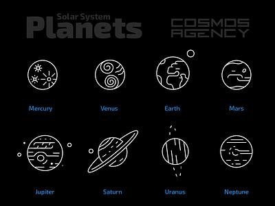 Solar System Planets neptune uranus saturn jupiter mars earth venus mercury
