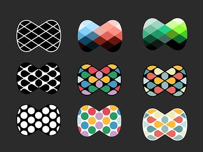 Ⓜ️'M' symbol — colors and shapes, ver. 01 shapes diamond symbol logo minimal patterns letter m