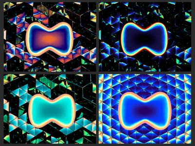 Ⓜ️'M' symbol — 3d reflections, ver. 04