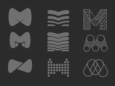 Ⓜ️'M' symbol — shapes and patterns, ver. 05 dots shape pattern logo symbol letter m