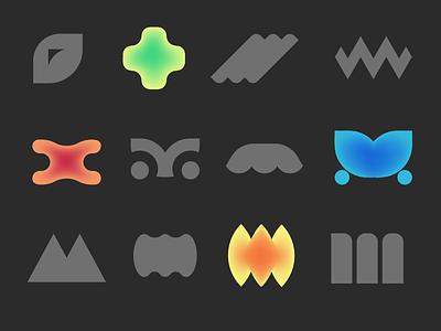 Ⓜ️'M' symbol — shapes and gradients, ver. 06 shape gradient sign m symbol logo