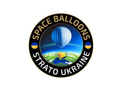 Strato Ukraine emblem ukraine space balloon logo emblem stratosphere