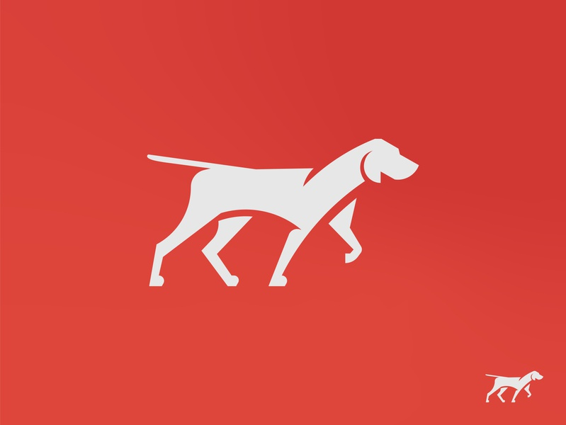 Veterinary Logo Illustration veterinary pointer dog dog design flat icon vector logo branding illustration