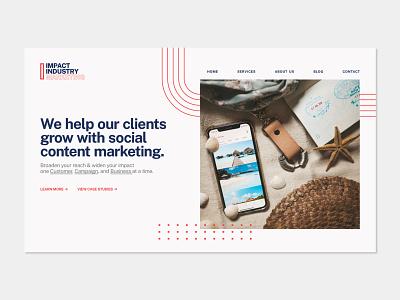 Marketing Landing Page Layout marketing homepage website elements web design splash page landing page branding typography design web ux ui