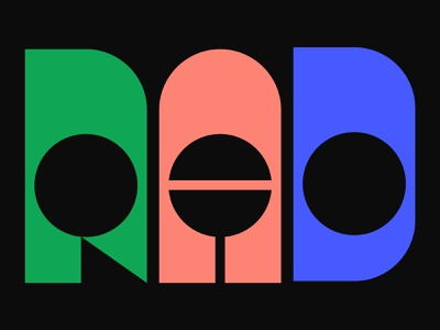 Rad Type Exploration rad letters lettering design glyphs custom type customtype lettering text design vector illustration type typography