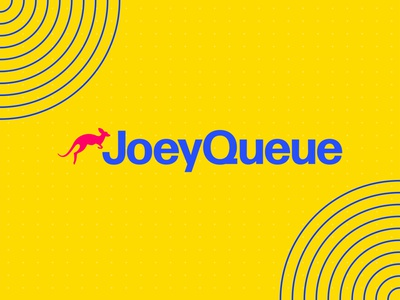 Joey Queue Branding brand design brand identity typogaphy type icon illustrator illustraion kangaroo joey vector animated gif animated gif presentation asset signage wayfinding bold vibrant