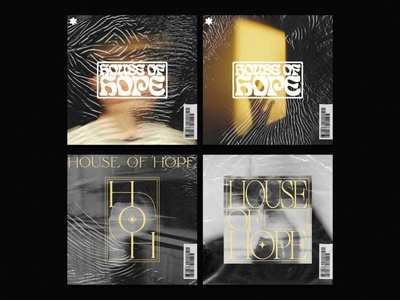 House of Hope record lettering branding illustration typography type texture music design album cover design album cover album artwork music album artwork layout design