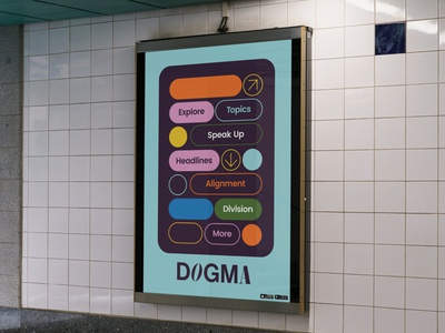 Dogma Branding wordmark logotype interface subway graphic design brand ad advert advertisment identity mockup ui ux app branding type typography design