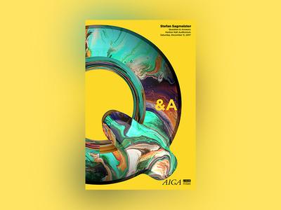 Stefan Sagmeister Q&A branding design typography type vector cinema 4d 4d illustration poster aiga qa stefan sagmeister