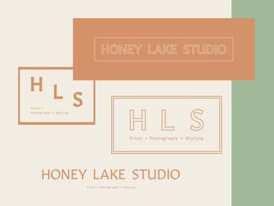 Honey Lake logo icon type font illustration design typography branding