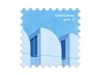 Santorini Greece Postage Stamp