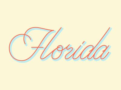 Florida Lettering WIP Concept wip branding florida vector design illustration logotype logo typography lettering type