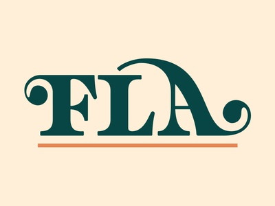 Florida Assets asset summer florida fla lettering letter typography design serif script type logotype