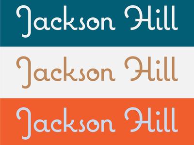 Jackson Hill italian brand hotel color palette color vector logotype icon lettering logo branding type typography design