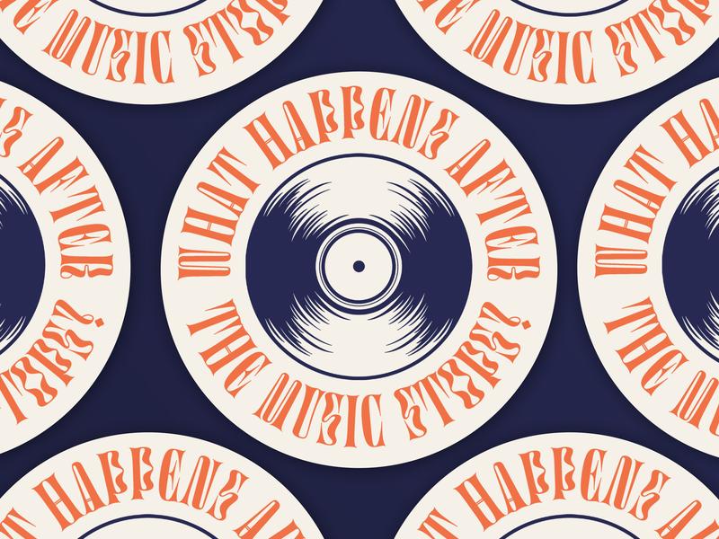 Now What? flat type design vector typography illustrator illustraion music record retro lockup font groovy logo crest badge