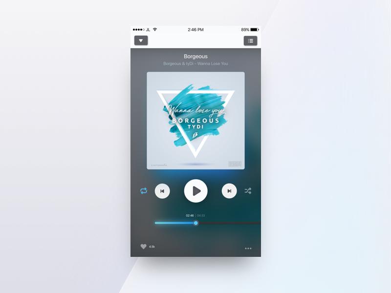 dailyUI #009 - Music Player ios app interface smartisan multimedia media ux ui sketch player music ios app