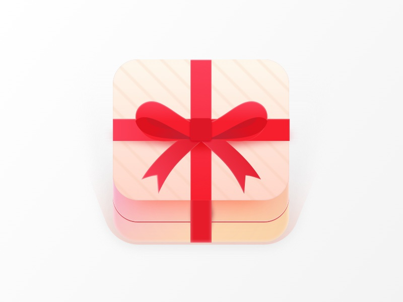 Gift Icon reward unwrap ui box app ios present icon gift