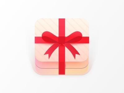 Gift Icon reward unwrap ui box app ios present icon gift