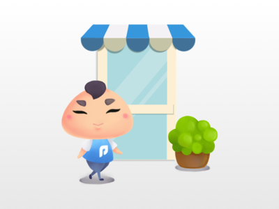 Pomona Onboarding Illustration 2/3 pomona app rewards point loyalty illustration digital painting character chibi