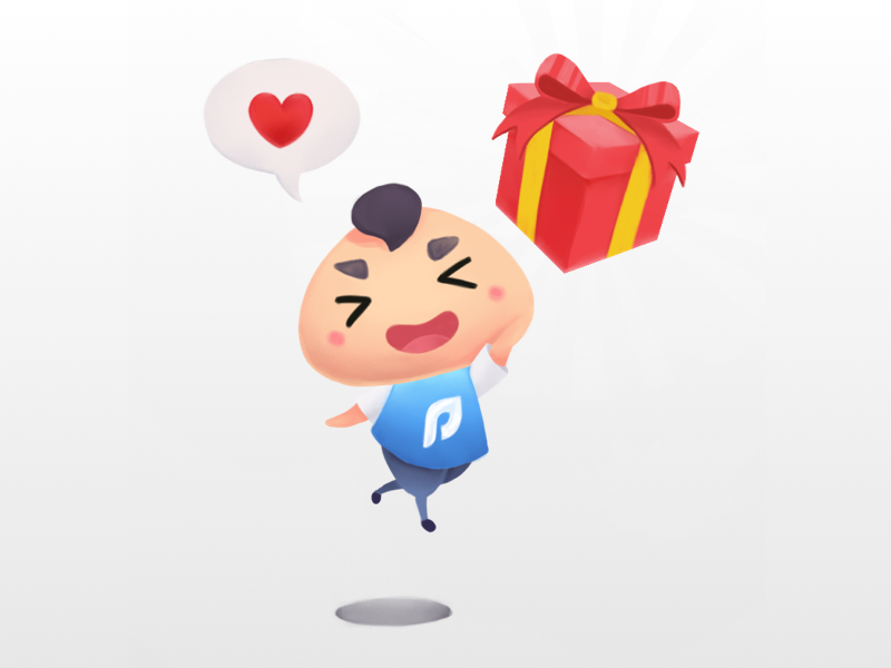 Pomona Onboarding Illustration 3/3 pomona app rewards point loyalty illustration digital painting character chibi