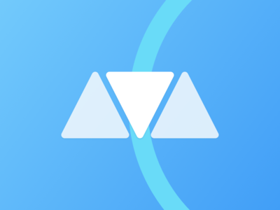 AVA Wellness Logo healthcare brand graphic ux ui app wellness clean blue ava logo