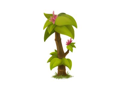 Tree procreate nature painting digital green leaf tree illustration