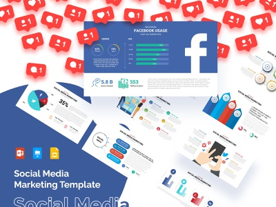 Social Media Infographic Template google slides keynotes ppt slides templates slides presentation template