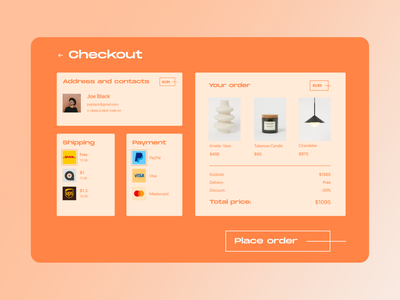 Credit card checkout Daily UI #002 ux ui typography design