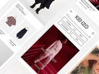KENZO.com - mobile homepage