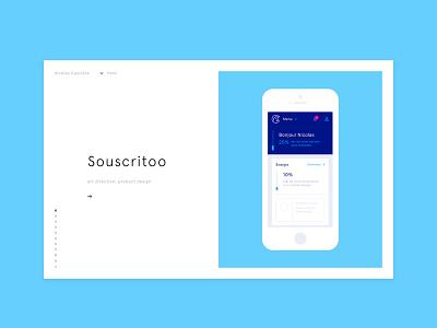 Portfolio update : Souscritoo papernest souscritoo ux ui design product portfolio