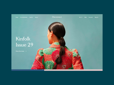 Disconnect - an online store dedicated to beautiful magazines ecommerce eshop magazine disconnect responsive illustration website ux ui