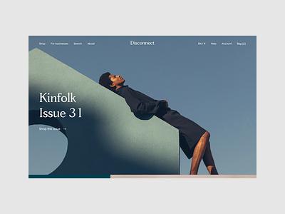 Disconnect - search sale kinfolk search ecommerce eshop magazine disconnect responsive website ux ui