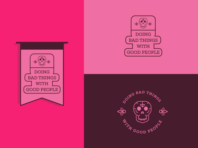 Bad Things With Good People art branding illustrator vector flat typography minimal logo illustration design