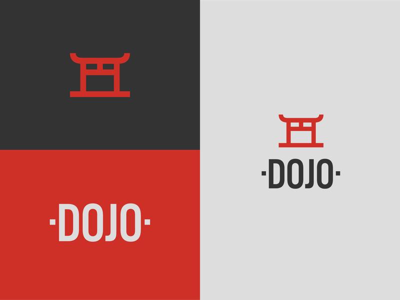 Dojo Brand Logo Concept flat illustrator branding minimal vector logo design
