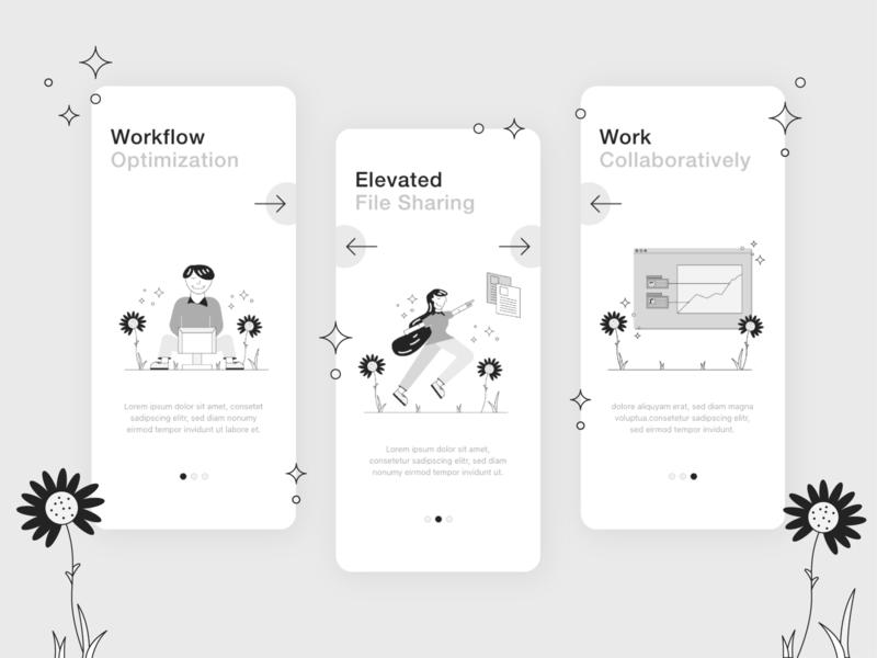 Onboarding graphic design website illustrator minimal vector illustration app ux ui design