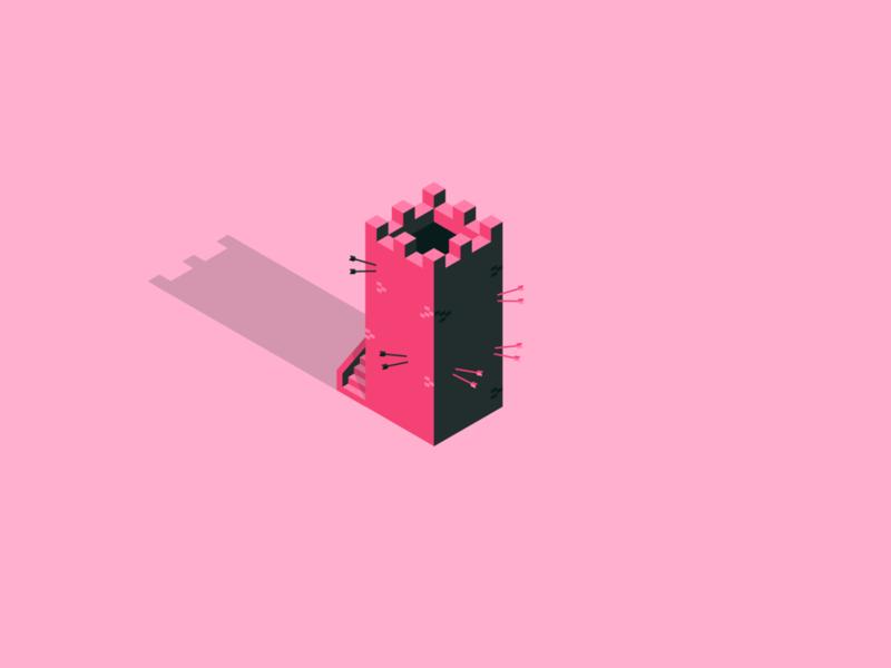 Lil Iso Tower isometry vector illustrator design isometric illustration isometric design isometric isometric art