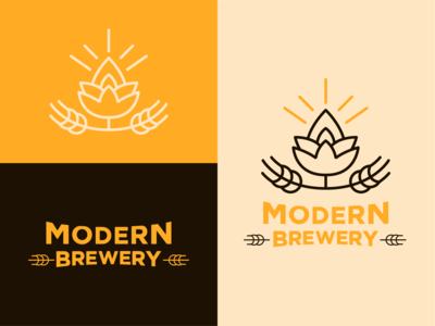 Modern Brewery 02 graphic design icon logo vector typography minimal illustrator flat branding design