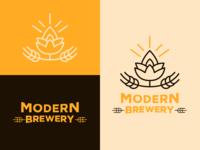 Modern Brewery 02 graphic design icon logo vector typography minimal illustrator flat branding design