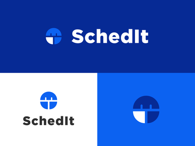 SchedIt Identity app web logo branding minimal vector flat design